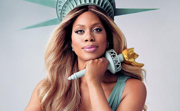 Laverne Cox as lady Liberty